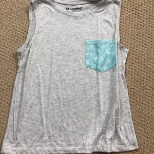 Grey Tank Top w/ fun pocket